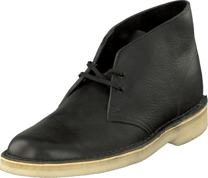 K 246 P Clarks Desert Boot Black Tumbled Leather Svarta Skor