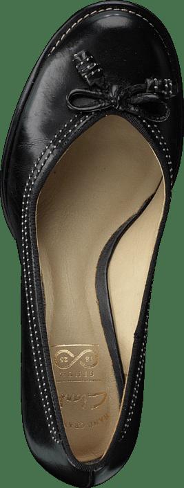 Femme Chaussures Acheter Clarks Bombay Lights Noir Leather Chaussures Online