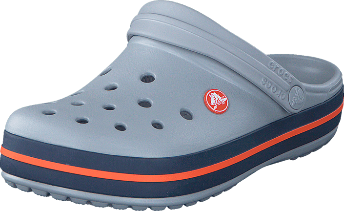 a99a25e01 Buy Crocs Crocband Light Grey Navy blue Shoes Online