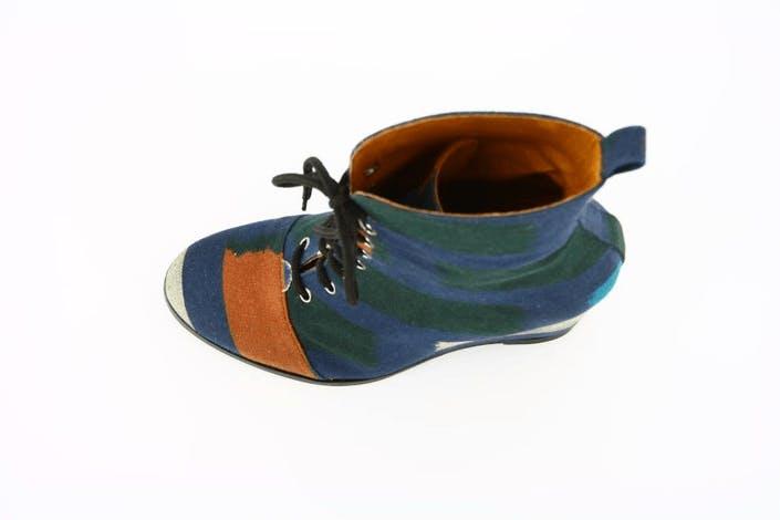 Wedge Boot Ikat Cotton Fabrik Multi