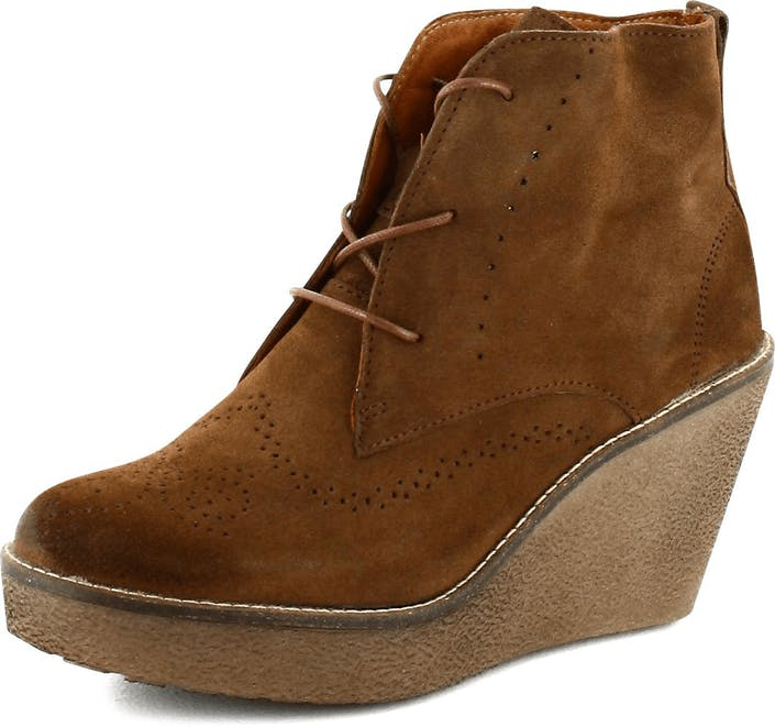 Short Boot Brown Suede