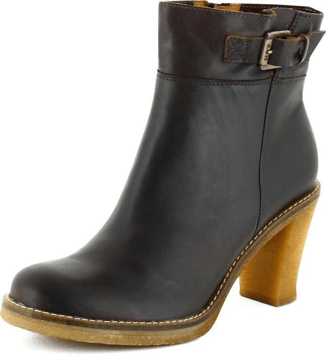 Osta Marc O Polo Ankle Boot Dark Brown Leather Harmaat Kengät Online ... 05dc03e3b1