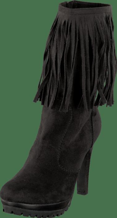 Kansas Long Fringe Boot Black