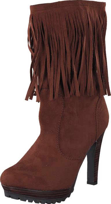 Kansas Long Fringe Boot Brown