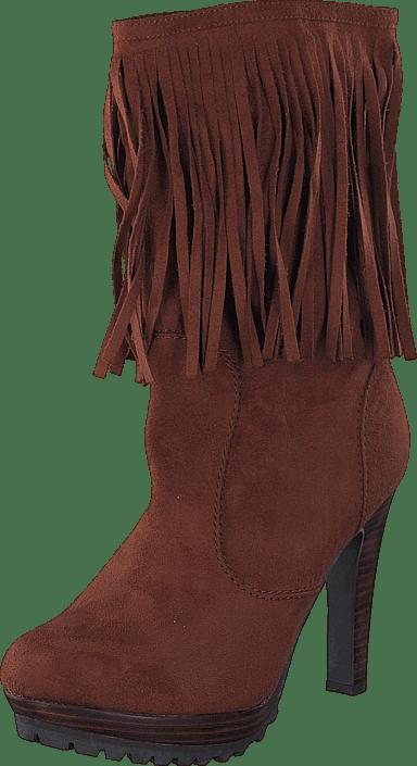 Lady CG - Kansas Long Fringe Boot Brown