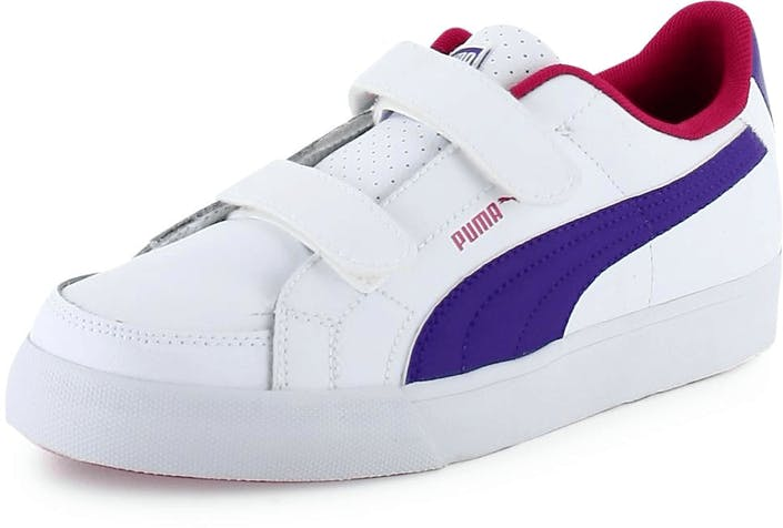 Court Point V Kids White/Raspberry