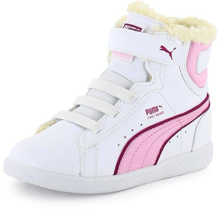 1fc020126b1 Koop Puma First Round V Kids Fur White/Pink paarse Schoenen Online ...