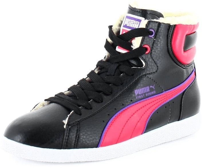 7122b9e6a880 Buy Puma First Round Jr Fur Black pink Shoes Online