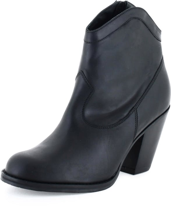 Short Boot 2962 Crazy Horse Black