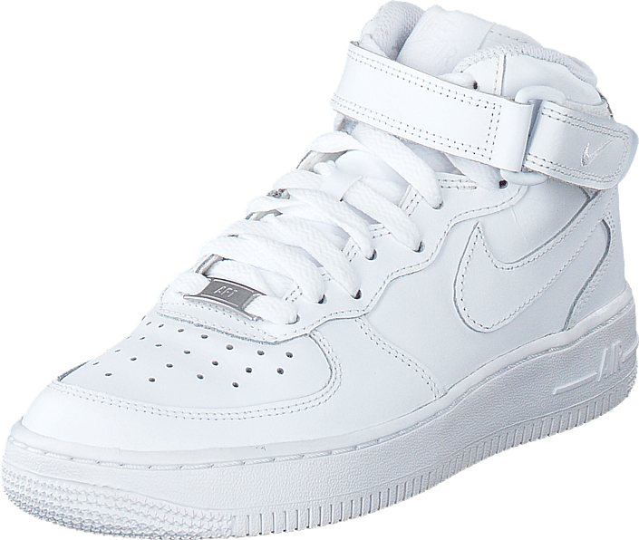 photos officielles 7f3da e5a41 Air Force 1 Mid White/White