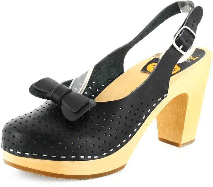 Osta Swedish Hasbeens Mimmi Black Nature sole Mustat Kengät Online ... 5aa3e5a53f