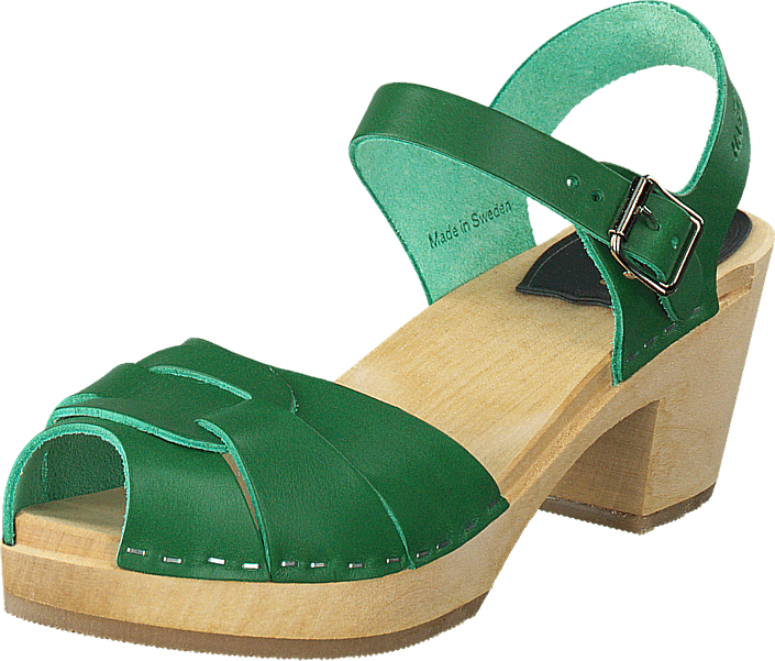 Osta Swedish Hasbeens Peep Toe High Strong Green beiget Kengät ... 0937271575