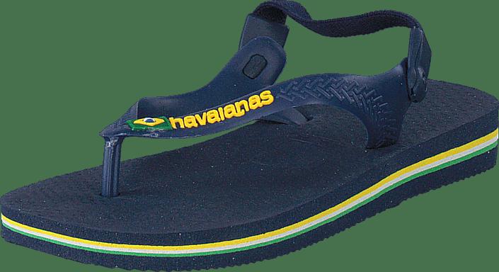 Baby Brasil Logo Navy Blue/Yellow