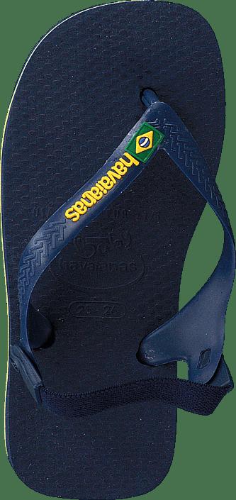 Havaianas - Baby Brasil Logo Navy Blue/Yellow