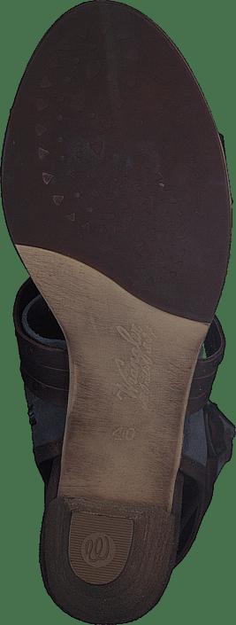 Cher Strips Mid Dark Brown Leather