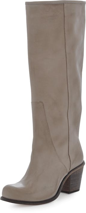 V Notch Boot Beige