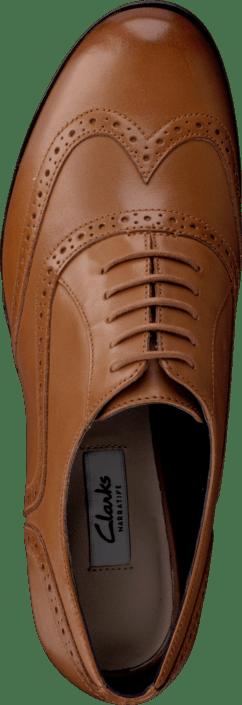 Kjøp Clarks Hamble Oak Dark Tan Leather Sko Online