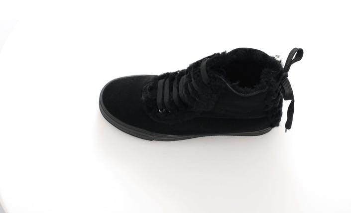 Cozy fur boot Black