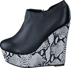 Snake wedge Black/white