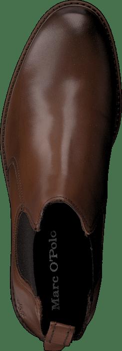 Kjøp Marc O'polo Flat Heel Chelsea 720 Cognac Sko Online