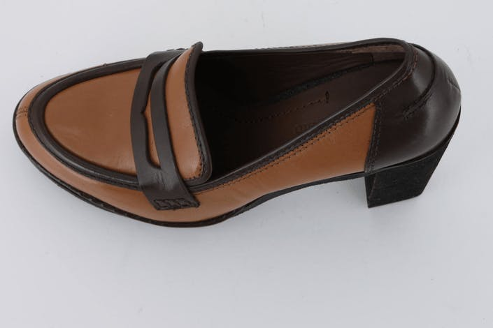 High Heel Loafer Natural Calf