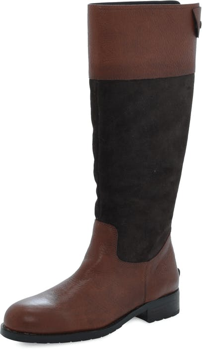 Flat Heel Long Boot Oily Calf Printed