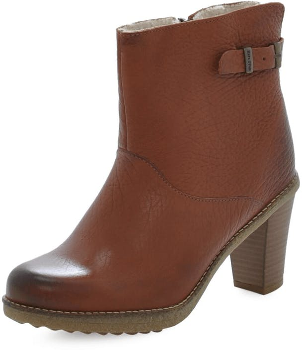 37c555c2b4e076 Buy Marc O Polo Mid Heel Bootie Shrunken Buffalo Cognac brown Shoes ...