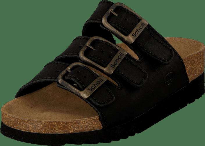 00 Sandaler Og Sorte Sko Ad 04608 Køb Rio Scholl Tøfler Black Online xqw80X6PI