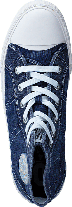Vintage Series-Boot Off White-Washed Navy