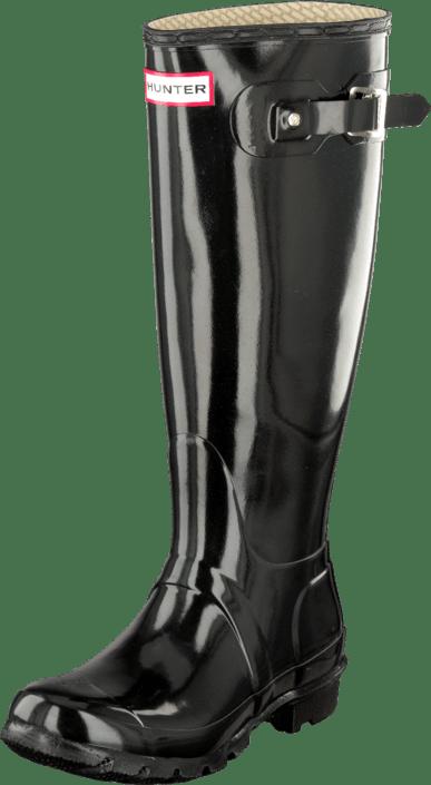 Hunter Støvler Kjøp Og Online Gloss Sorte Støvletter Sko Tall Black Original P7O78d