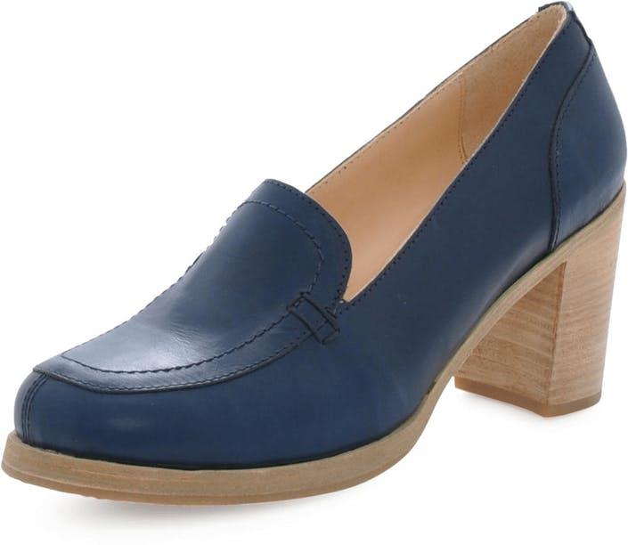 Osta Swedish Hasbeens Chunky Loafer Dark Blue ruskeat Kengät Online ... fa5fd02615