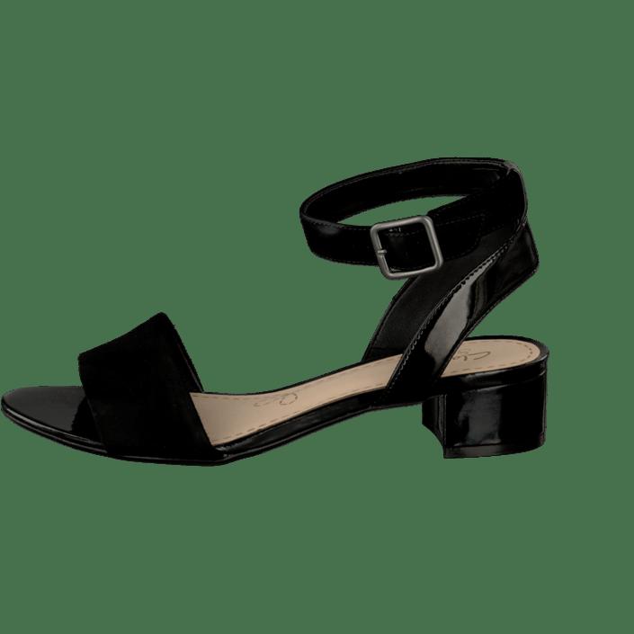 80ca24dfa Buy Clarks Sharna Balcony Black Combi Sde black Shoes Online ...