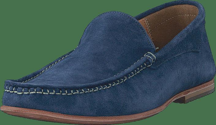 Knowledge Cotton Apparel - Slipper Moccasin Estate Blue