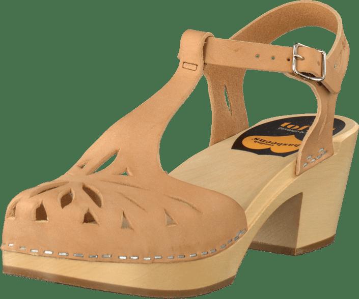 Køb Swedish Hasbeens Lacy sandal nature Brun Sko Online ...