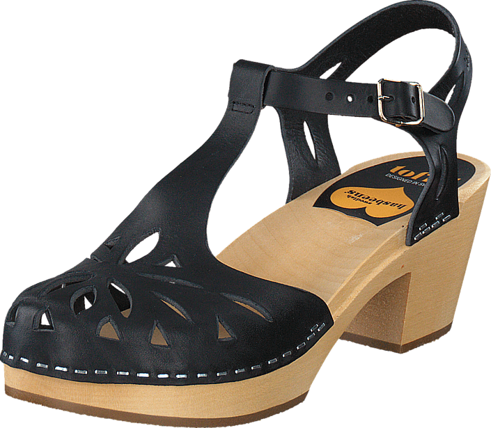 Swedish Hasbeens - Lacy Sandal Black