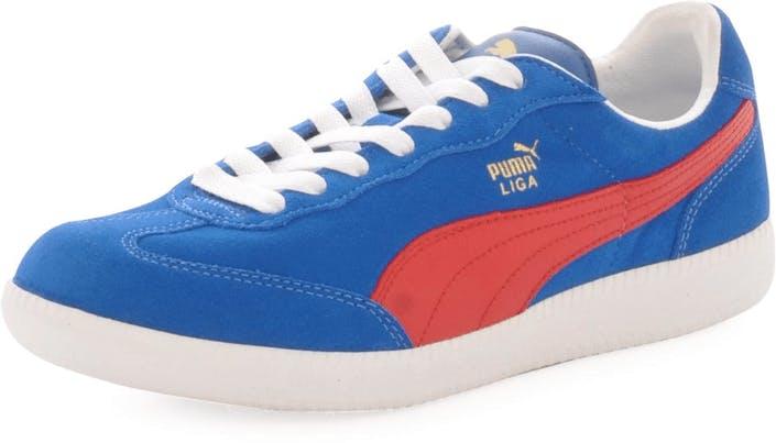c0cee338590a33 Buy Puma Liga Suede Blue Red blue Shoes Online