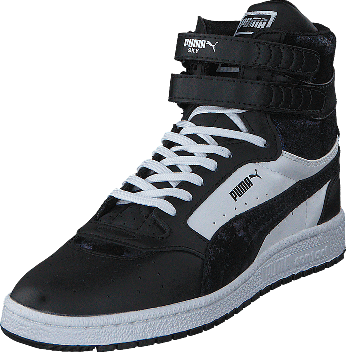 fa8eb39567ba Buy Puma Sky II Hi SHMR Wn s Blk Wht black Shoes Online