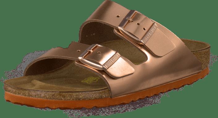 ecf3ca8e48e Köp Birkenstock Arizona Slim Copper Metallic bruna Skor Online ...