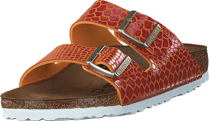 Birkenstock - Arizona Slim Shiny Snake Orange