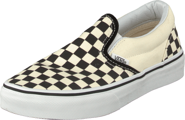 70f3ee1a11 Buy Vans K Classic Slip-On Checkerboard Black grey Shoes Online ...
