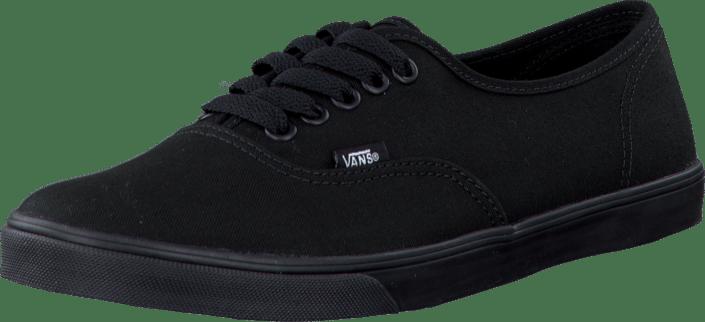 vans authentic lo pro black black