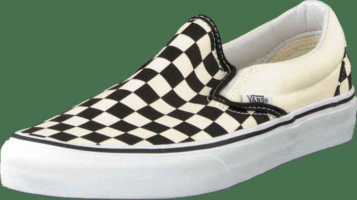 Online Sko Black U 02 Checker Vans Slip on 07439 Hvide Classic Køb Flade white xzvTwqWW