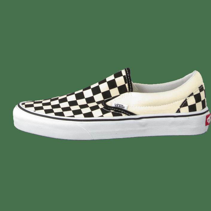 U Classic Hvide Sko Køb Flade 07439 Vans Slip Online white Checker on 02 Black a5EHq4n