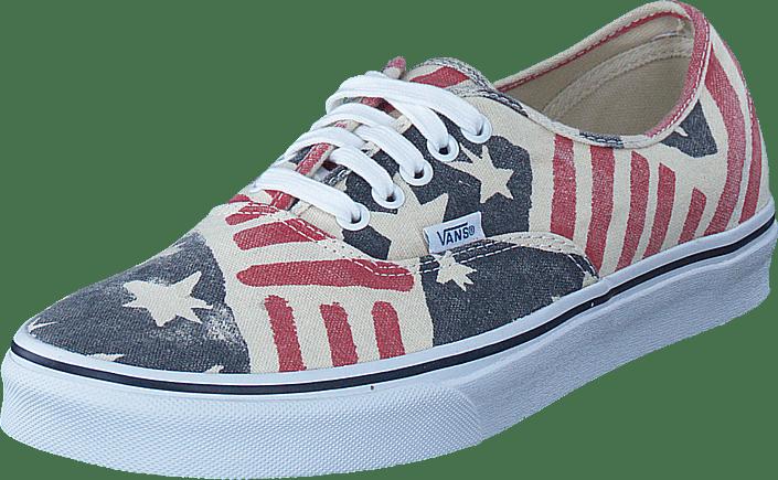 Authentic Online Van Doren U Flag Kaufen Schuhe Blaue Vans Retro WD2YI9EH