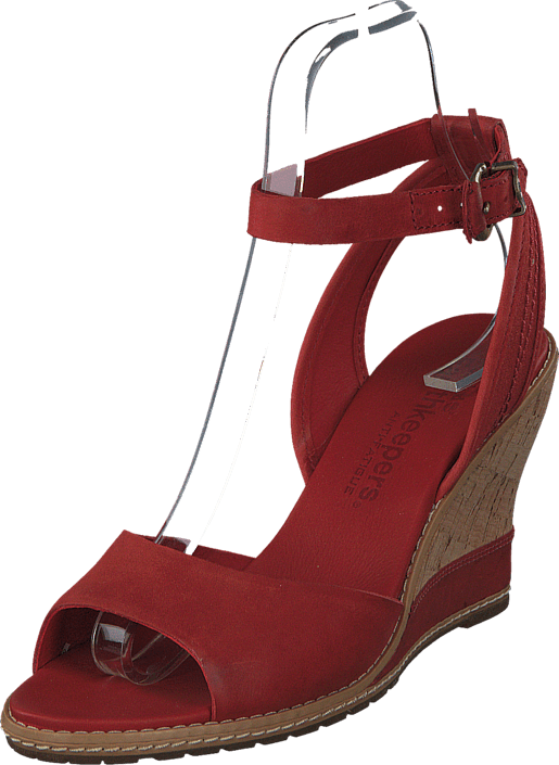 EK Maeslin Ankle Strap Sandal Dark Red