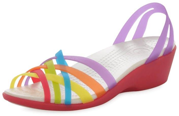 6e34b414bf2f Buy Crocs Huarache Mini Wedge Multi pink Shoes Online