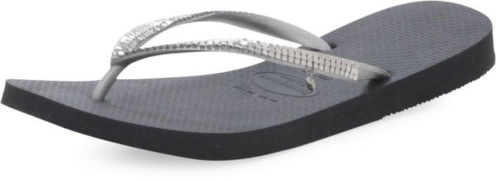 1a4b9904cc1 Buy Havaianas Slim Metal Mesh Black grey Shoes Online
