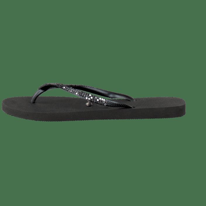 1cc84176ac1 Buy Havaianas Slim Metal Mesh Black Dark Grey black Shoes Online ...
