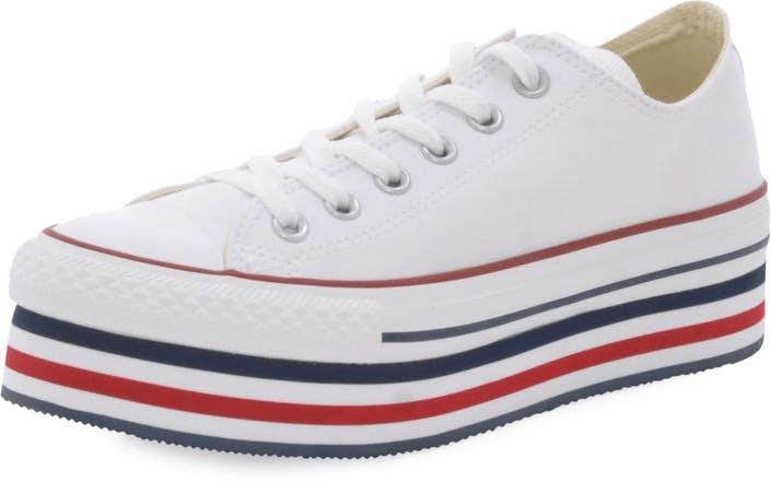 7f05dddc5f5125 Buy Converse All Star Platform Ox White Chilipepper Ath Navy red ...