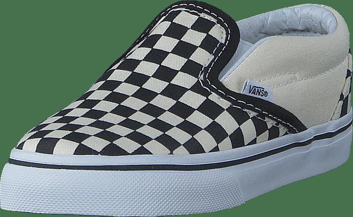 T Classic Slip-On Black And White Checker/White